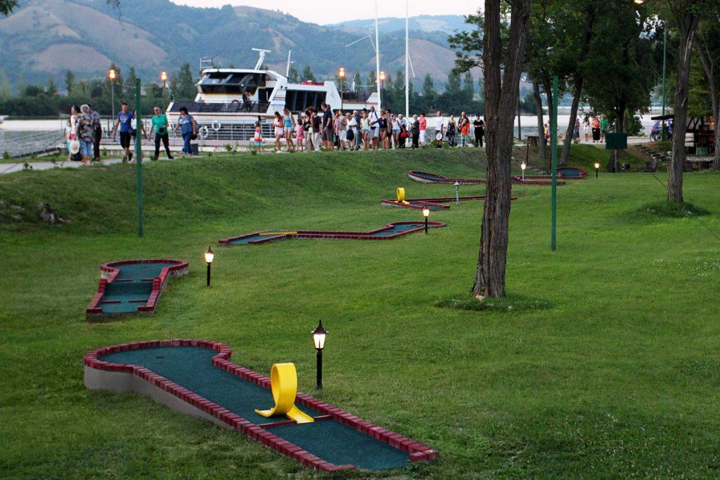 Pogled na terene za mini golf