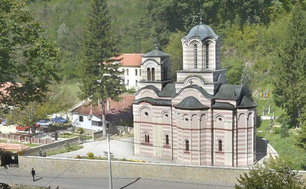 Pogled na manastir iz vazduha